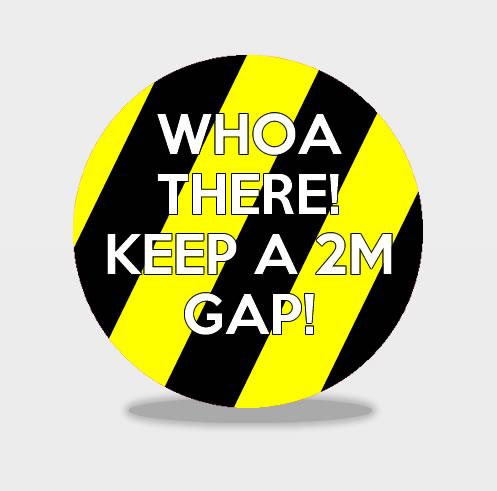 CIRCLE KEEP CALM 2M APART Social Distancing Stickers