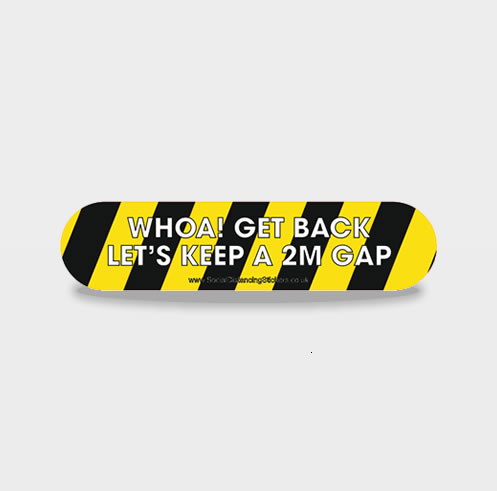 HAZARD WHOA GET BACK LINE Social Distancing Floor Stickers