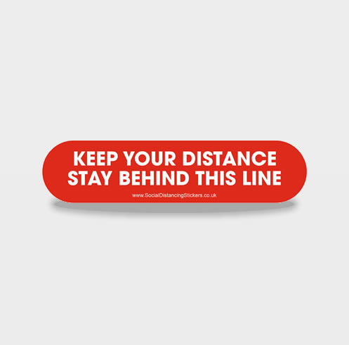KEEP YOUR DISTANCE LINE Social Distancing Floor Stickers