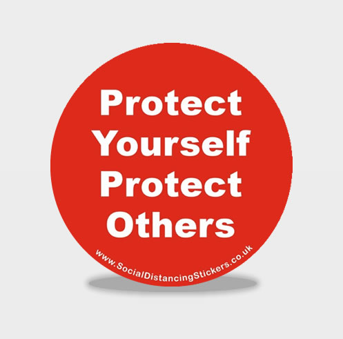 Protect Yourself Protect Others Social Distancing Floor Stickers