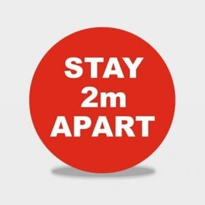 Stay 2m Apart Social Distancing Floor Stickers