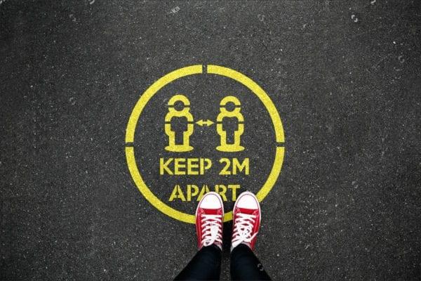 Keep 2m apart