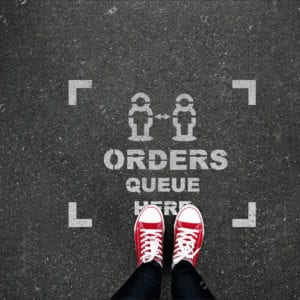 orders queue here
