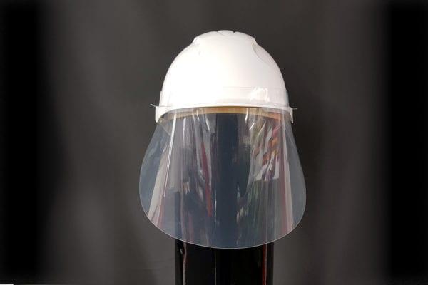 face visor for hard hat
