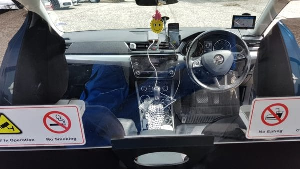 polycarbonate taxi screen
