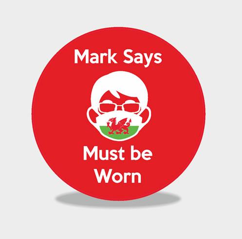 Mark Says wear a face mask