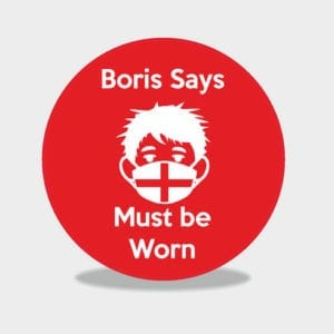 Boris Says Wear a Face Covering