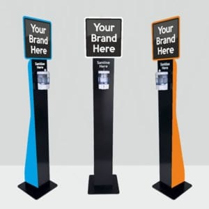 free-standing-hand-sanitiser-station-with-branding